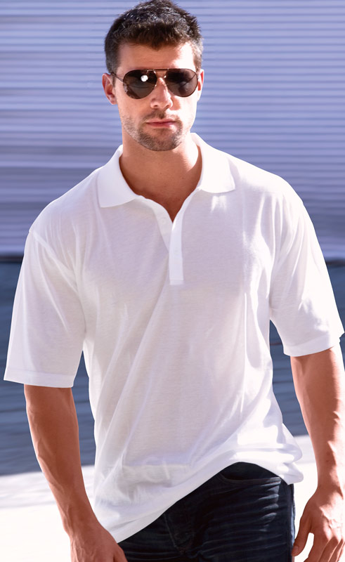 White Mens Polo