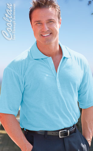 Ocean Blue Mens Polo