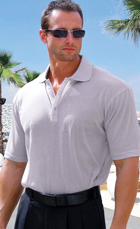 Lt Gray Light Gray Mens Polo