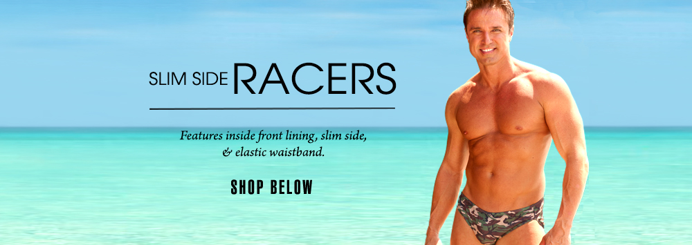 5acef45bb72 Tan Through Men's Swimwear in Racer Style!