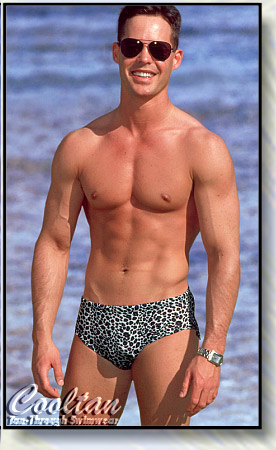 The BLACK CHEETAH Tan-Through Wide Side Racer Swim Trunk