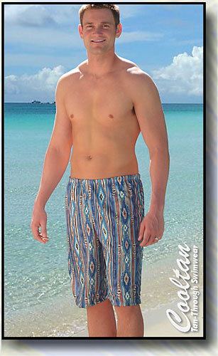 Sante Fe ♦ Surf Shorts (Tan-Through Swimwear)
