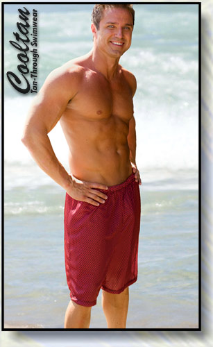 Red Zig Surf Shorts