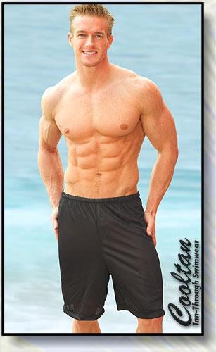 Solid Black Surf Shorts