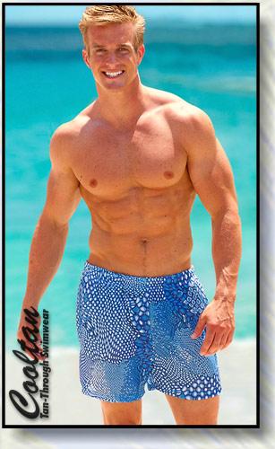 Blue Surf Swim Shorts