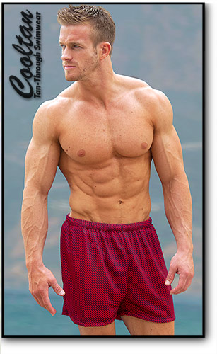 Red Zig Swim Shorts