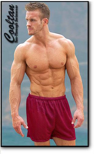 Red Zig Swim Shorts
