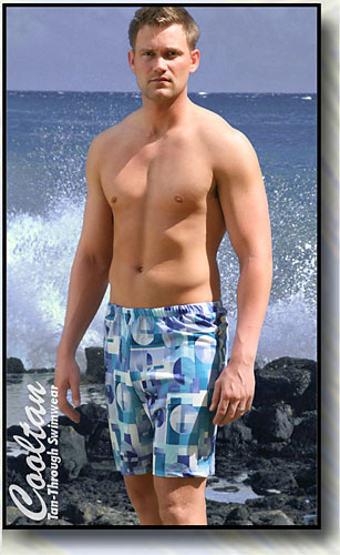 Blue Coral Board Shorts