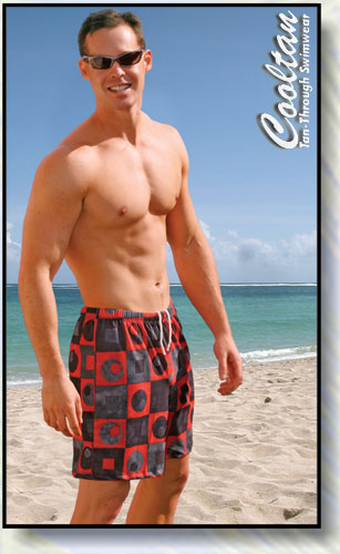 Red Chex Board Shorts