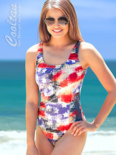 USA 1PC Tank Top Suit