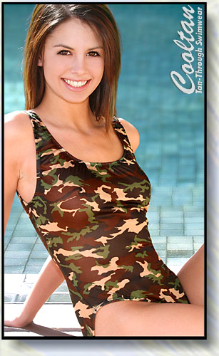 Camouflage 1PC Tank Top Suit
