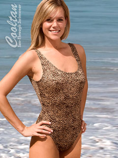 Gold Lynx One Piece Tank Top Swimsuit
