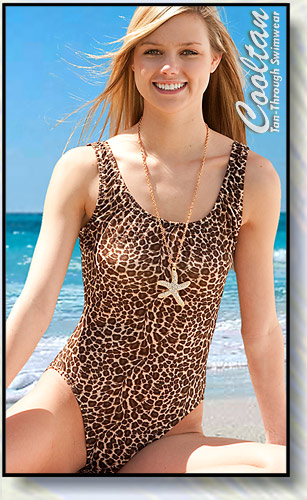 Gold Cheetah 1PC Tank Top Suit
