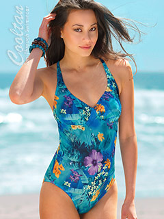 Coral Reef 1PC Structured Top Suit