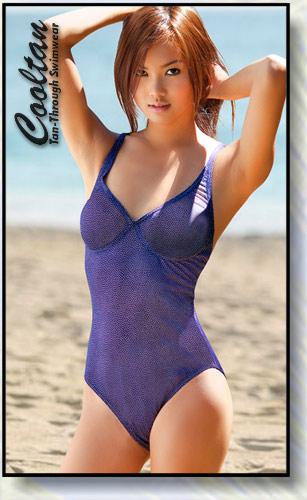 Cooltan Tan-Through Sea Salt 1PC Structured Top Suit