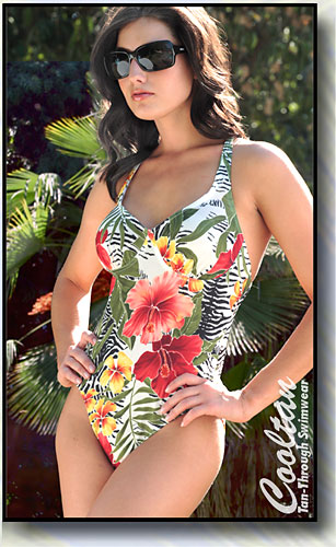 Cooltan Tan-Through Oahu 1PC Structured Top Suit