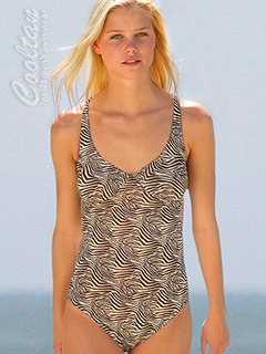 Gold Zebra 1PC Structured Top Suit