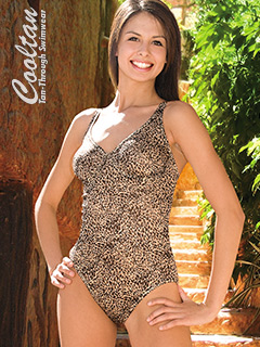 Gold Lynx One Piece Structured Top Swimsuit
