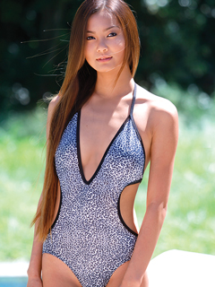 Black Cheetah 1PC Monokini  Suit