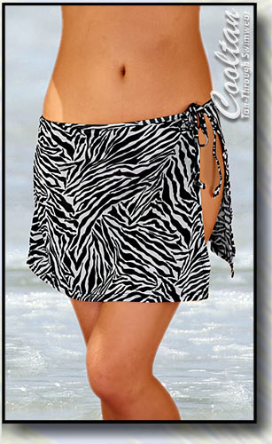 Blk/White Zebra Cover-Up Sarong