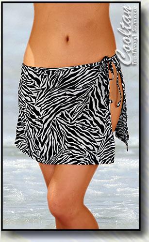 Blk/White Zebra Cover-Up Sarong