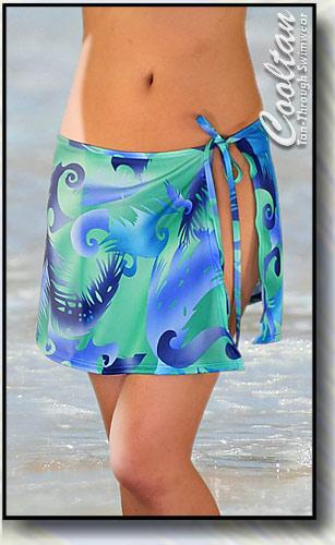 Blue Calypso Cover-Up Sarong