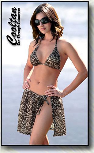 Gold Cheetah Cover-Up Sarong
