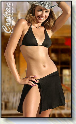 Solid Black Cover-Up Sarong