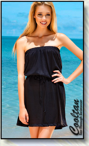 Solid Black Versatile Beach Cover-Up