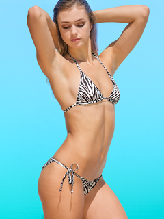 Black & White Zebra sun-through bikini - no more tan lines