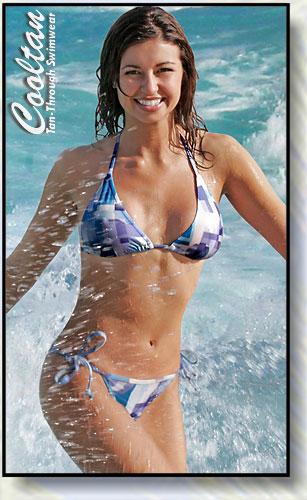 Blue Coral Triangle Top Bikini