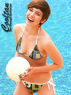 Green Chex Triangle Top Bikini available from Cooltan, Click for more Details