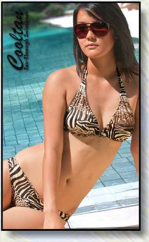 Safari Halter Top Bikini