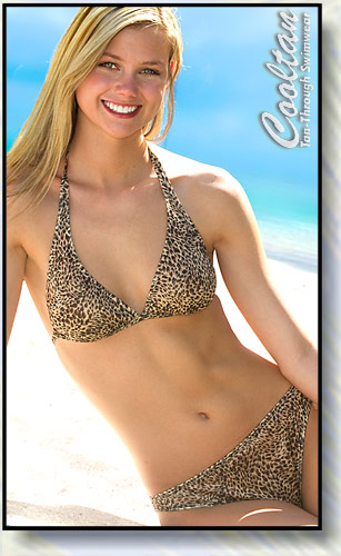 Gold Lynx Halter Top Bikini