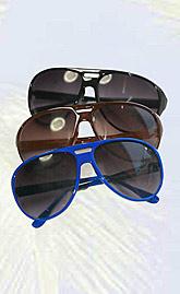 Red Aviator Sport Sunglasses