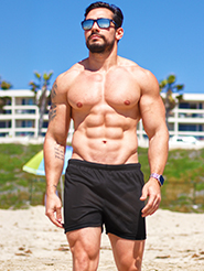 tan through mens swim shorts