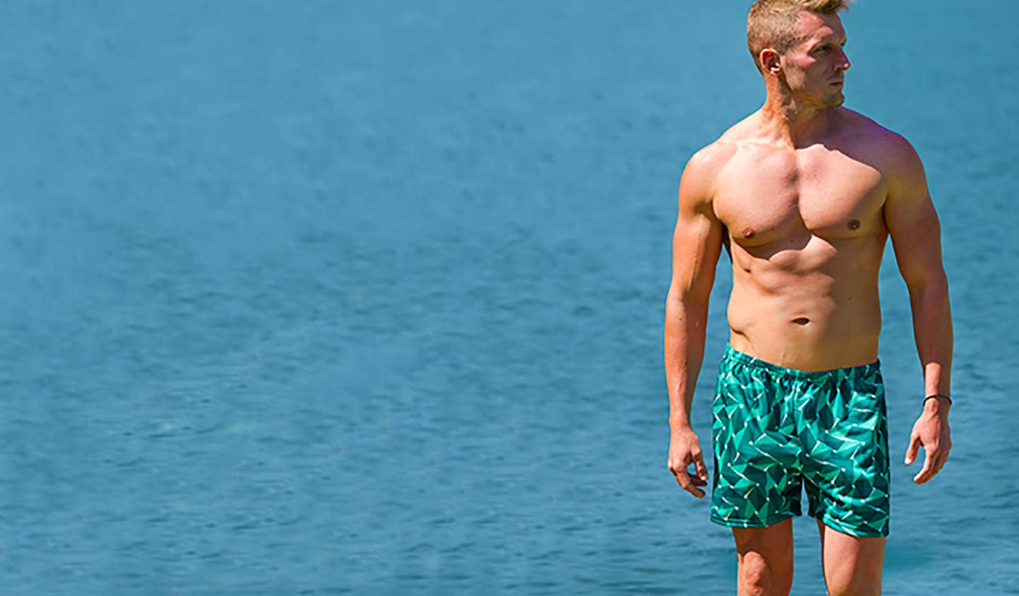 Shop Mens swimwear styles that are tan through